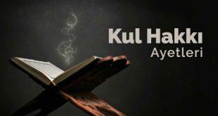 kul hakkı ayetleri